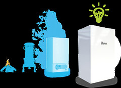 Flowgroup's domestic boiler can generate electricity and reduce household power bills