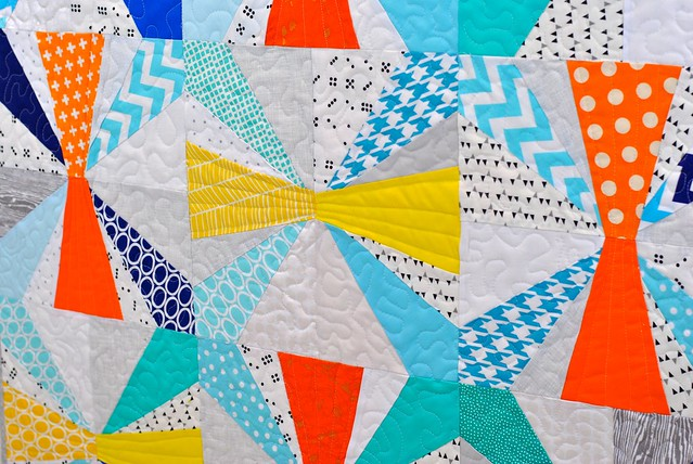 Baby Jacks quilt (close up)