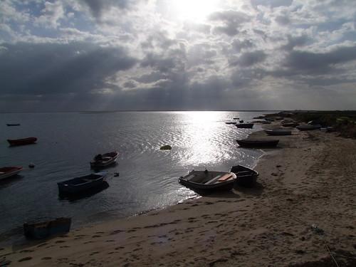sunset sea sky cloud sun beach portugal clouds boats sundown algarve february olhao olhão pib 2015 s100fs cyclingshepherd cloudsstormssunsetssunrises