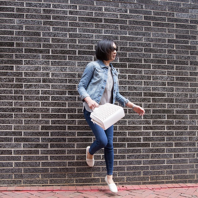 Denim on Denim OOTD on www.whatjesswore.com
