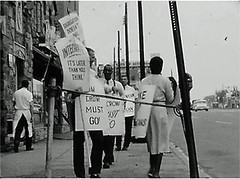 100 hour rights picket at the Hiser # 3: 1960