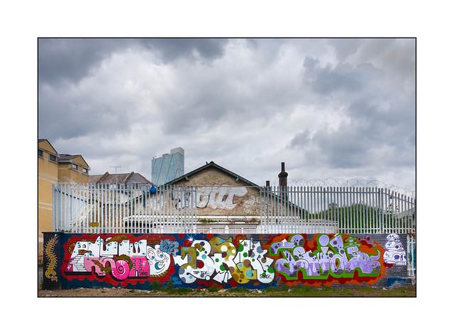 Graffiti (Deno, BRK, Teide), East London, England.