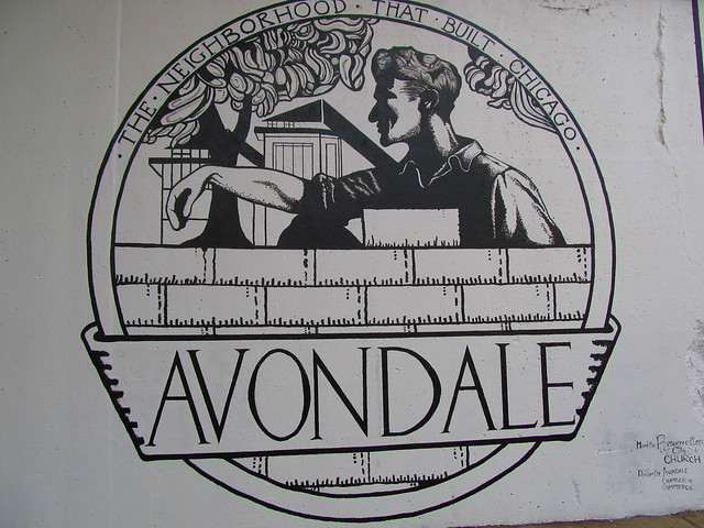 Avondale Mural at the Belmont & Kedzie Viaduct