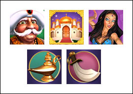 free Sultan's Gold slot game symbols