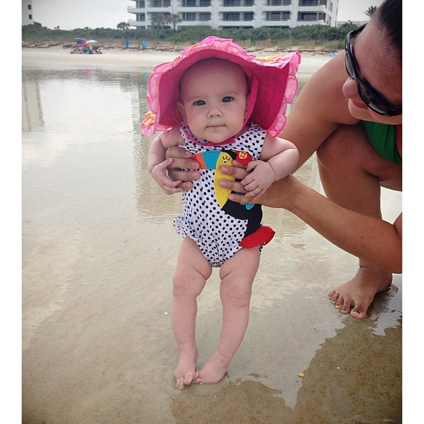 Oh my cuteness!!!! @sunnie_rice #beachbaby #nsb