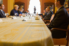 Speaker John Boehner hosts a bipartisan meeting with Dalia Grybauskaite, President of Lithuania, at the U.S. Capitol. May 17, 2013. (Official Photo by Bryant Avondoglio)  --- This official Speaker of the House photograph is being made available only for publication by news organizations and/or for personal use printing by the subject(s) of the photograph. The photograph may not be manipulated in any way and may not be used in commercial or political materials, advertisements, emails, products, promotions that in any way suggests approval or endorsement of the Speaker of the House or any Member of Congress.