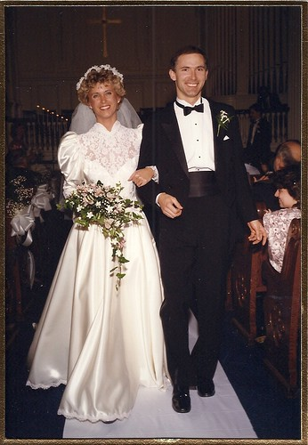Janice and Don get married! Circa 1988