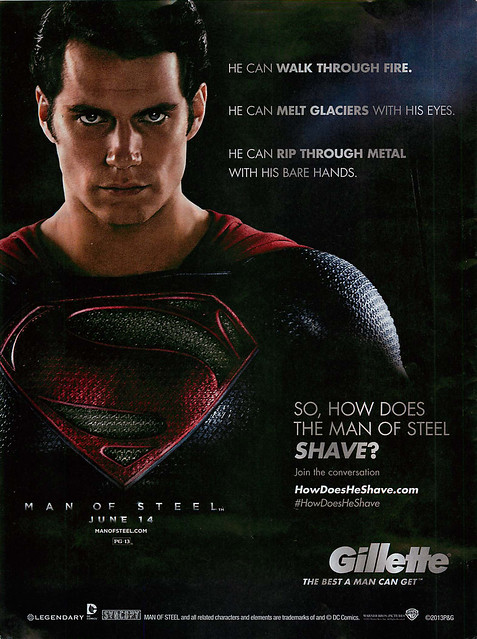 how does the man of steel shave, superman, stupid ads-1