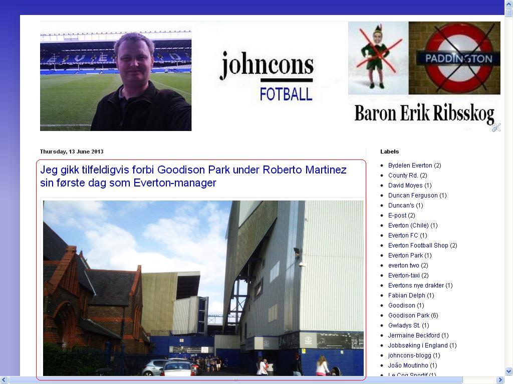 oppdaterte fotball blogg