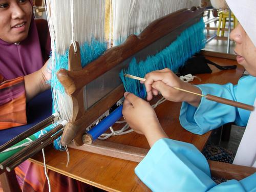 Preparation for songket weaving