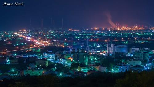 taiwan nightview 夜景 sigma70300mm 台中市 taichungcity 大肚山 dadumountain sonya850 taichungthermalpowerplant 台中火力發電場