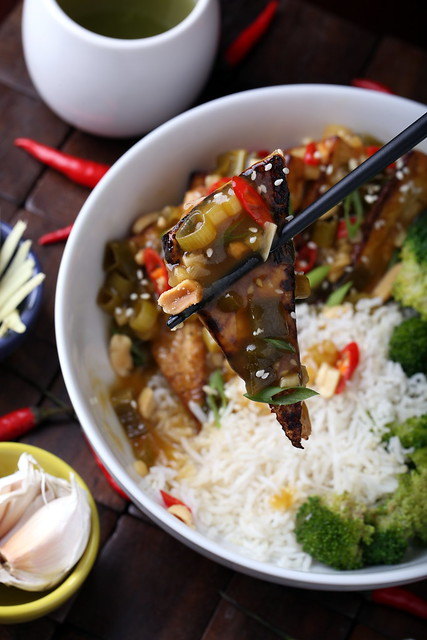 Tofu with General Tso's Sauce