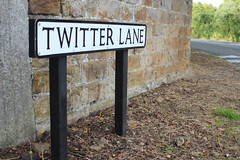 Tweeting down Twitter Lane, Waddington, Lancashire