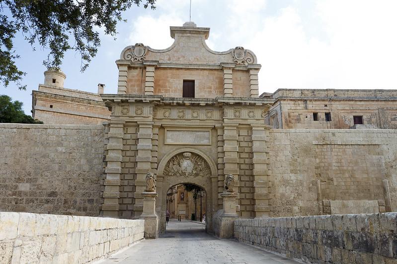 Front gate in Mdina - Malta