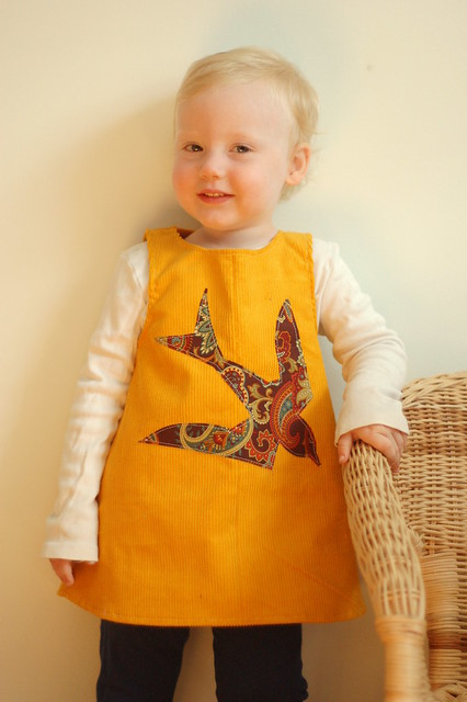 18mo yellow cord swallow MODELLED