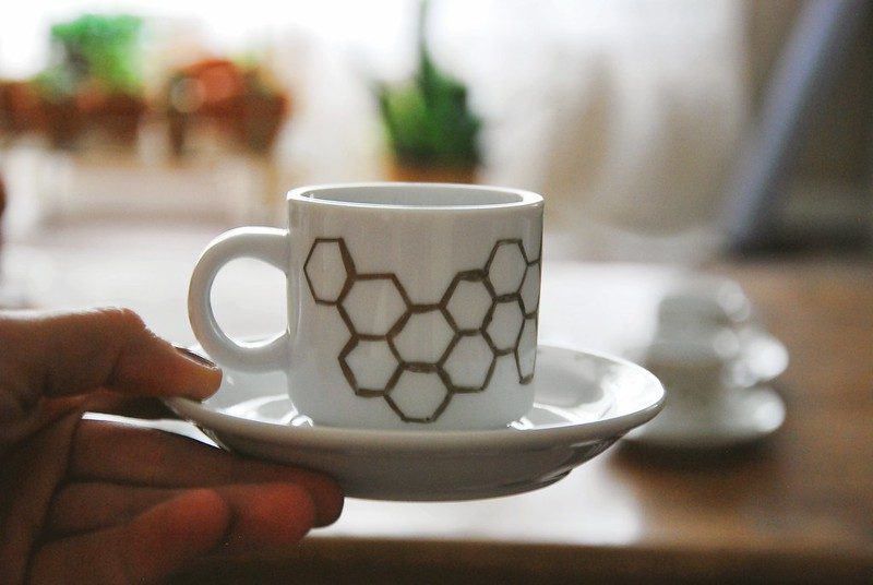 DIY honeycomb espresso cups