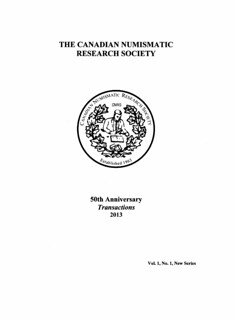 Canadian Numismatic Research Society Transactions 2013