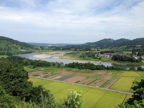 越後川口SA(下り)からの眺め