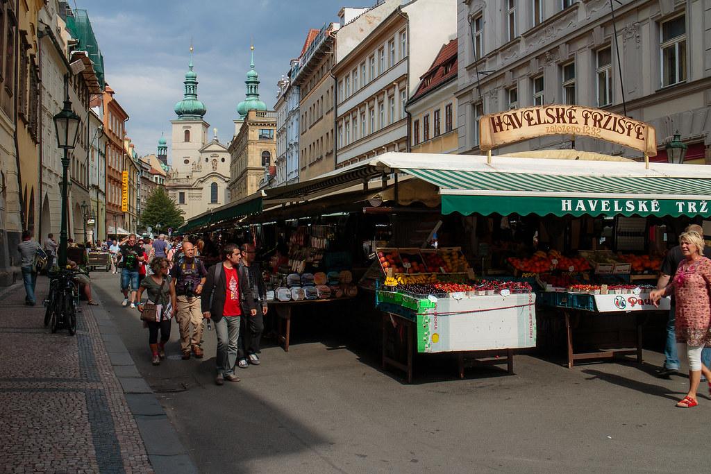 שוק בפראג לקנות מזכרות