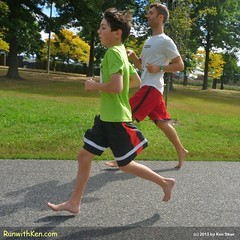 Running barefoot appeals to runners of ALL AGES!  At the Boston Barefoot Running Festival 5K.