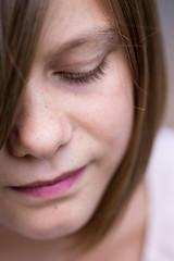 nose, freckle, chin, face, hairstyle, portrait photography, brown, skin, lip, girl, head, hair, eyelash, cheek, brown hair, close-up, blond, mouth, eyebrow, forehead, pink, beauty, eye, organ,