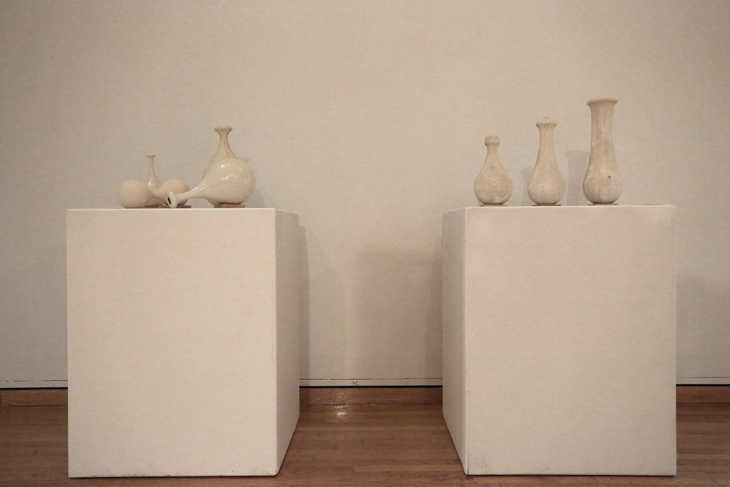 Examples of the ceramic vessels created for the exhibition.