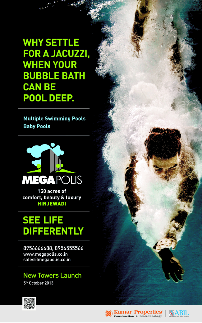 Megapolis Hinjewadi Phase 3 to Launch New Towers on 5th October 2013 (3-10-2013)