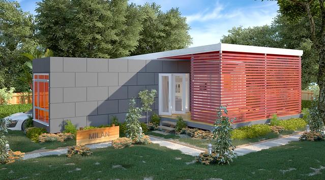 The Milan Granny Flats Studio Prefab Modular Home