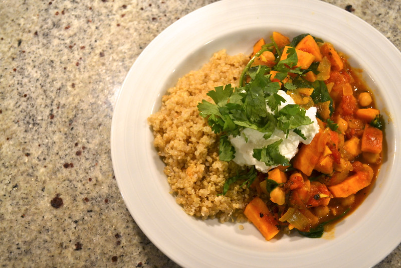 morrocan sweet potato, chickpea, and quinoa stew | things i made today