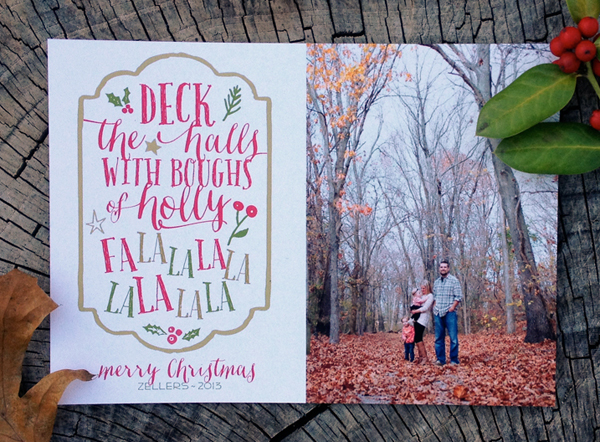 deck the halls with boughs of holly - photo christmas card