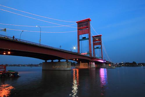 Jembatan Ampera Palembang Saat Petang
