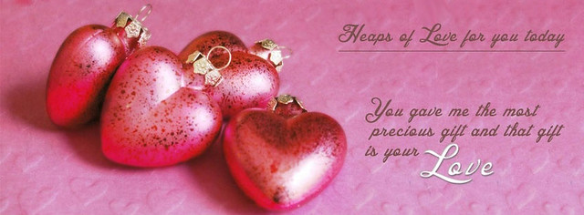 Heaps Of Love Facebook Cover Photo