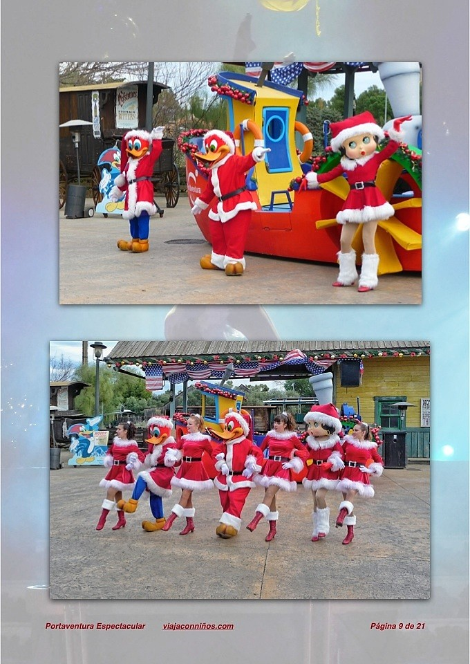 Portaventura espectáculo de navidad