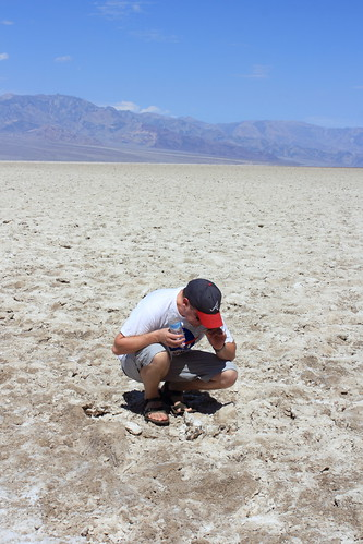 Tasting the salt at Badwater