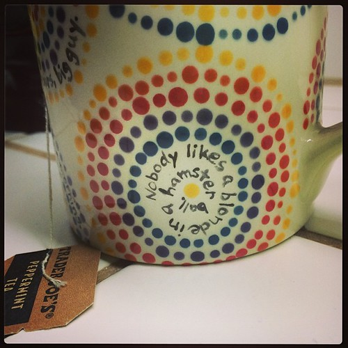 This quote on my #VeronicaMars dottery mug makes me happy every time I read it, both the words and the way I painted it.