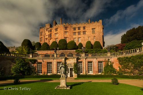 autumn castle wales landscape unitedkingdom powis welshpool