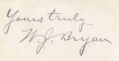 William Jennings Bryan signature2