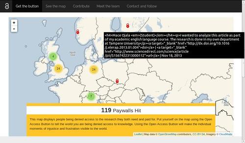 OA Button -raportteja Euroopasta 18.11.2013 klo 23:08