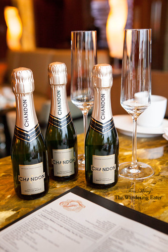 Bottles of NV Chandon Brut Classic Champagne