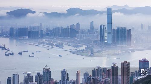 morning hk fog clouds sunrise landscape hongkong day peak 香港 begin 風景 hongkongisland victoriahabour 太平山 雲海 晨曦 日出 維港 維多利亞港 霧 lugard