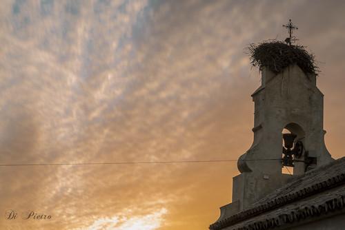 Templo alumbrando la eclosion del ocaso