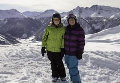 winter sport(0.0), sports(0.0), ski touring(0.0), extreme sport(0.0), nordic skiing(0.0), alps(1.0), snowshoe(1.0), adventure(1.0), footwear(1.0), mountain(1.0), winter(1.0), snow(1.0), mountaineering(1.0), mountain range(1.0), summit(1.0), ridge(1.0), mountain guide(1.0), mountainous landforms(1.0),