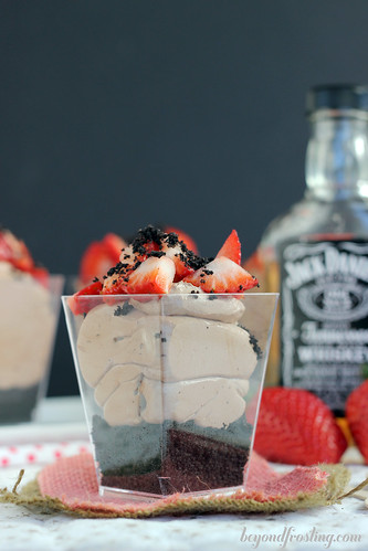 No-Bake Spiked Chocolate Mousse Parfaits   beyondfrosting.com   #nobake #valentines day