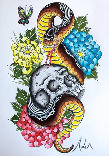 snake 22222 by Adriantattoo