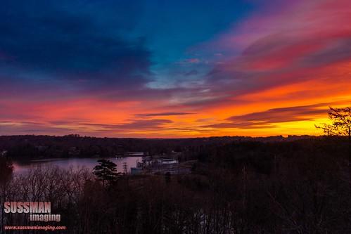 sky lake cold water clouds sunrise georgia colorful unitedstates gainesville freezing lakelanier hallcounty thesussman sonyslta77 sussmanimaging