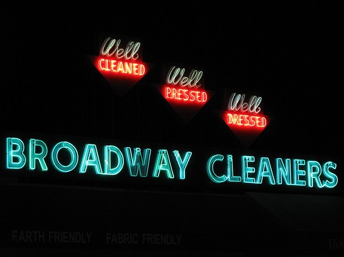 Broadway Cleaners Redwood City Neon