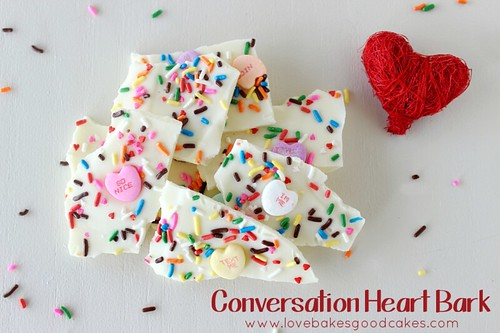 Conversation Heart Bark #ValentinesDay #candy
