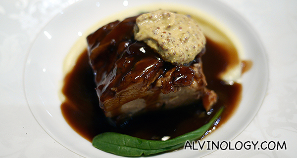 Poulet's Braised Iberico Pork Belly (S$15.80) - a favourite of mine on their menu