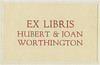 Ex Libris Hubert & Joan Worthington by misterworthington