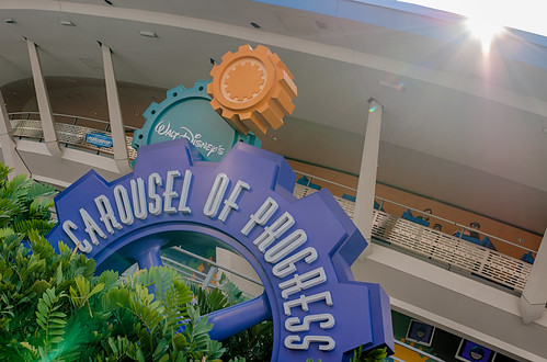 Walt Disney's Carousel Of Progress Sign by Jeff.Hamm.Photography